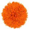 Jujuhat fait de plume de couleur orange foncé