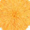 Jujuhat fait de plume de couleur orange clair