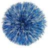 Jujuhat fait de plume de couleur bleu clair