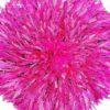 Jujuhat fait de plume de couleur rose fushia